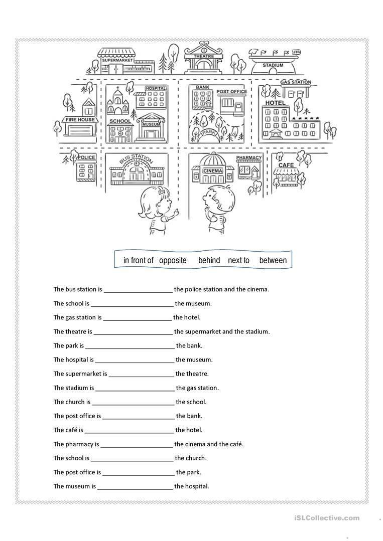 Prepositions Of Place Worksheet - Free Esl Printable Worksheets Made | Free Printable Esl Worksheets