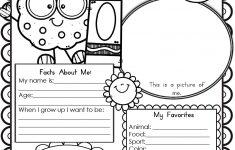 All About Me Worksheet Preschool Printable