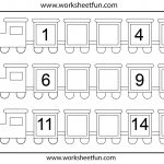 Preschool Missing Number Worksheets | Number Train – Missing Numbers | Free Printable Missing Number Worksheets
