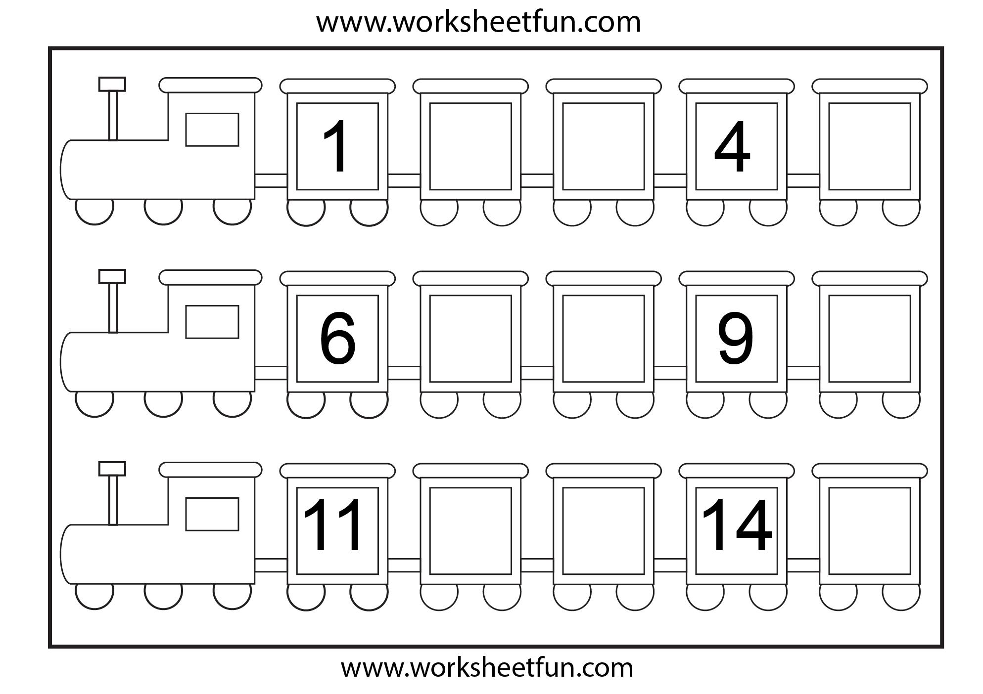 Preschool Missing Number Worksheets | Number Train – Missing Numbers | Free Printable Missing Number Worksheets