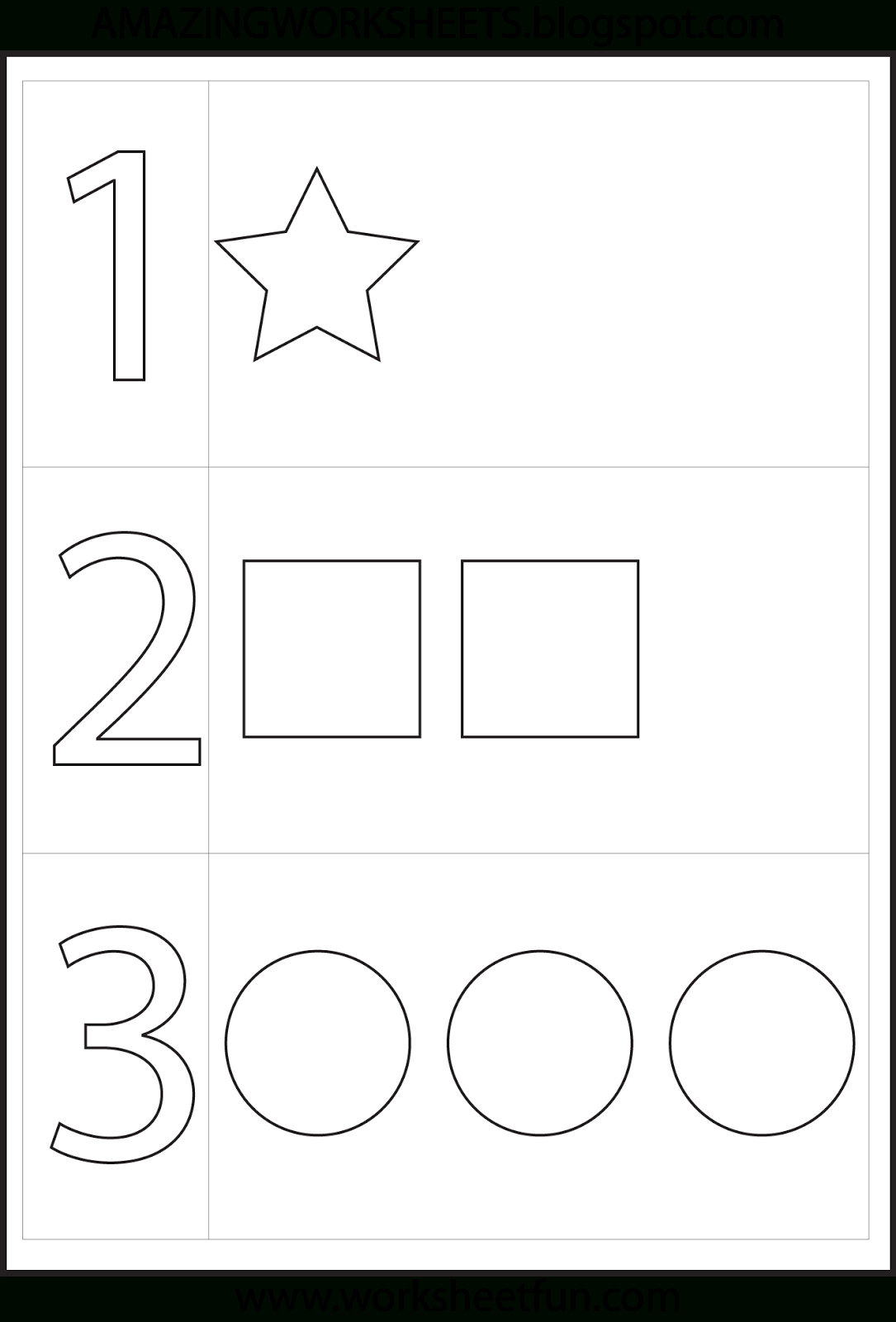Preschool Number One Worksheet | Number 1 Preschool Worksheets | Number One Worksheet Preschool Printable Activities