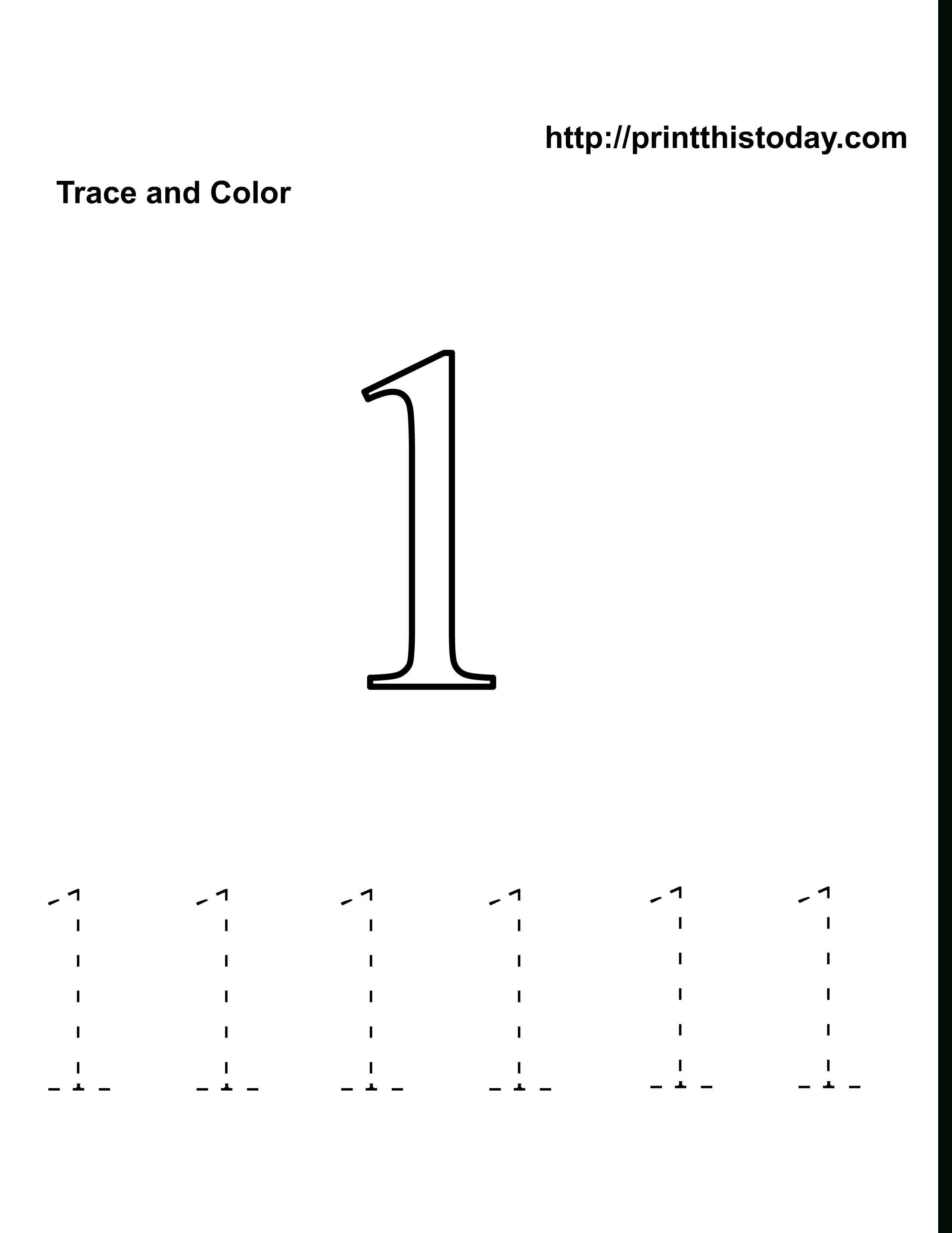 Preschool Number One Worksheet | Number 1 Tracing Worksheets | Home | Number One Worksheet Preschool Printable Activities