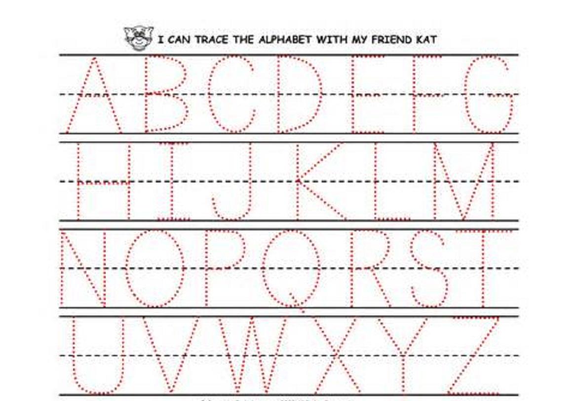 Preschool Printing Worksheets – With Alphabet Also Handwriting | Handwriting Names Printable Worksheets