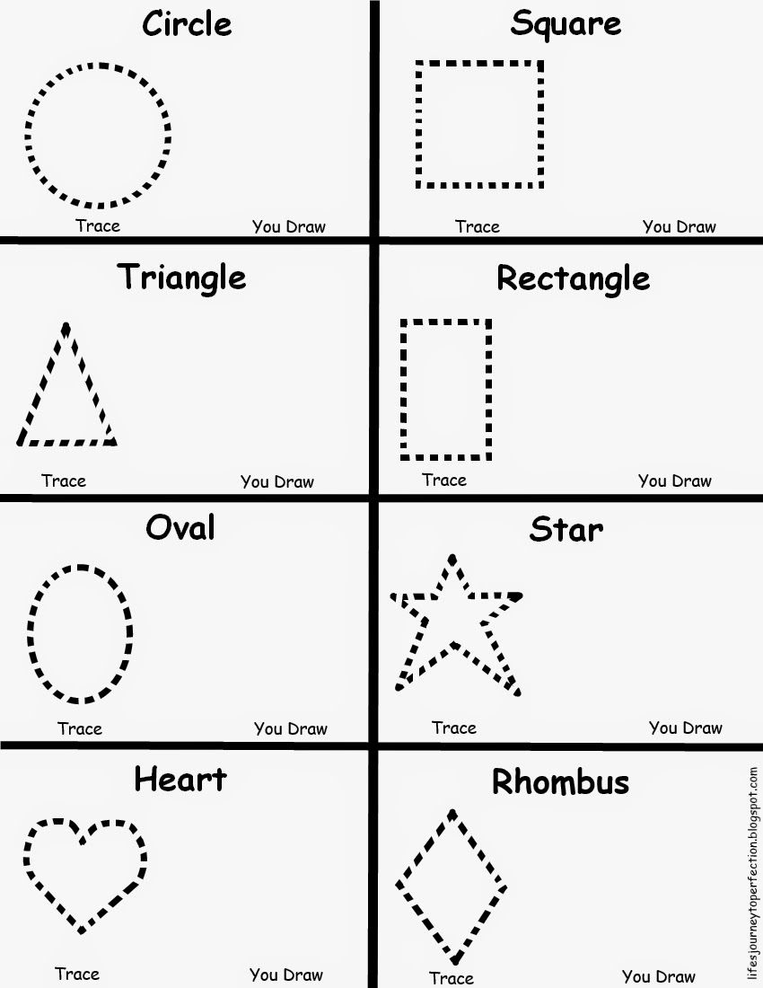 Preschool Shapes Worksheet | Lifes Journey To Perfection | Preschool | Printable Preschool Worksheets Shapes