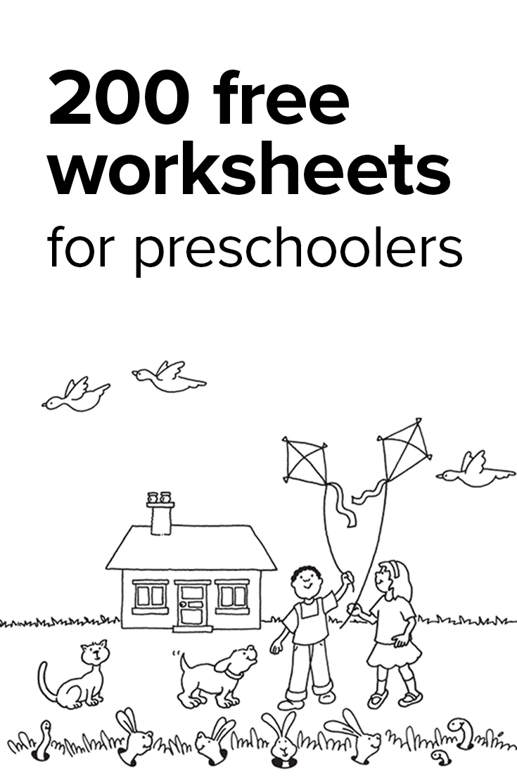 Preschool Worksheets Age 4 – With Lesson Plan Template Also | Free Printable Preschool Worksheets