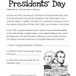 Presidents' Day (Free Worksheet) Updated | Squarehead Teachers | Free Printable President Worksheets