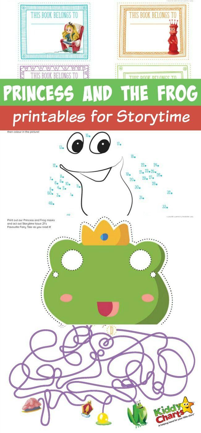 Princess And The Frog Printables For Storytime | Brownies | Frog | The Frog Prince Worksheets Printable