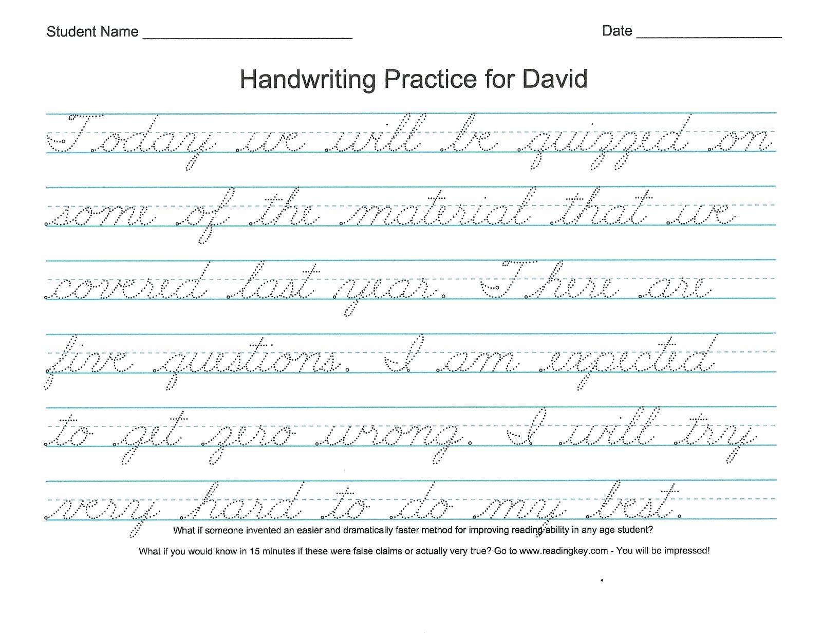 Print Cursive Worksheets Free Printable Bible Verses For Handwriting | Handwriting Names Printable Worksheets