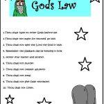 Printable 10 Commandments Coloring Pages Trials Ireland | 10 Commandments Printable Worksheets