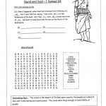 Printable Bible Study Worksheets Lessons For Youth Free Children's | Free Printable Children's Bible Worksheets