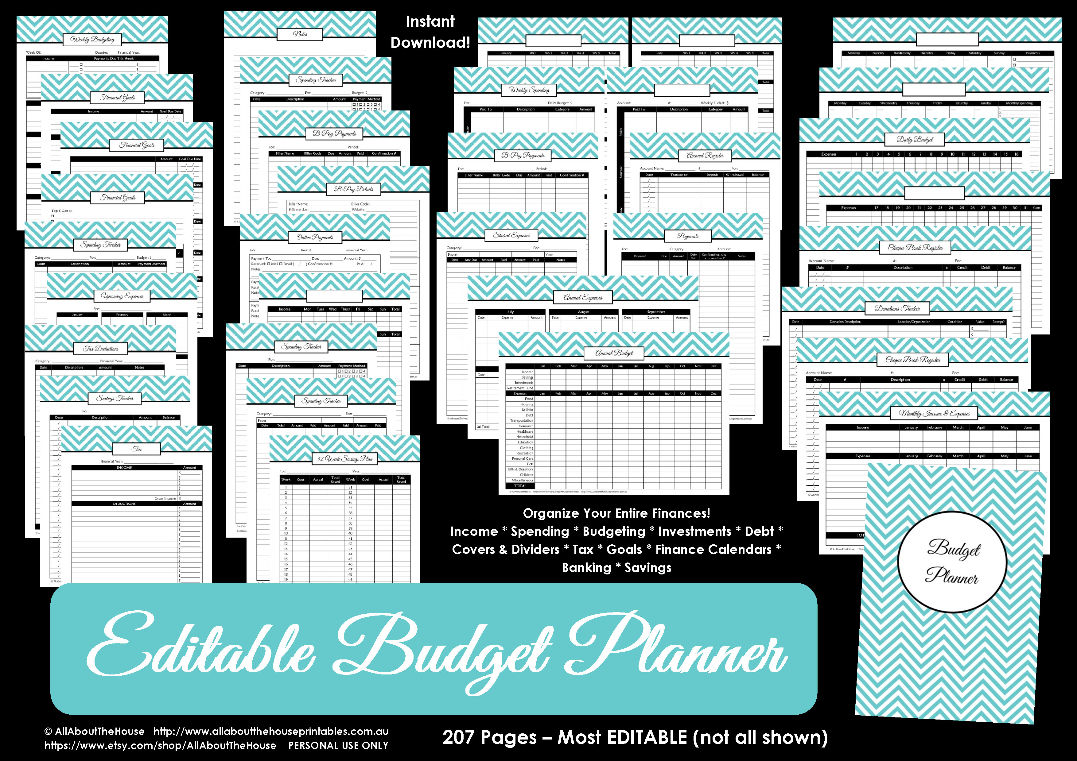 Printable Budget Planner/finance Binder Update - All About Planners | Printable Budget Binder Worksheets