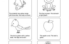 Free Printable English Reading Worksheets For Kindergarten