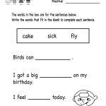 Printable Kindergarten Worksheets | Free Printable Grammar Review | Bilingual Worksheets Printable