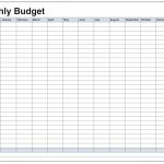 Printable Monthly Budget Worksheet Excel   Koran.sticken.co | Monthly Budget Worksheet Printable