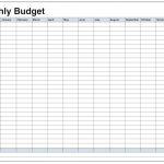 Printable Monthly Budget Worksheet Excel   Koran.sticken.co | Monthly Spending Worksheet Printable