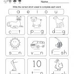 Printable Phonics Worksheet   Free Kindergarten English Worksheet   Free Printable Phonics Worksheets