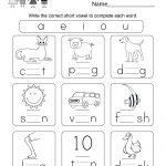 Printable Phonics Worksheet   Free Kindergarten English Worksheet | Kindergarten Worksheets Free Printables Phonics