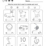 Printable Phonics Worksheet   Free Kindergarten English Worksheet | Printable Phonics Worksheets