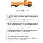 Printable School Bus Rules … | School Bus Ideas & Rules | Schoo… | Free Printable School Bus Safety Worksheets