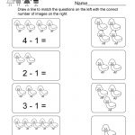 Printable Subtraction Worksheet   Free Kindergarten Math Worksheet | Free Printable Kindergarten Addition And Subtraction Worksheets