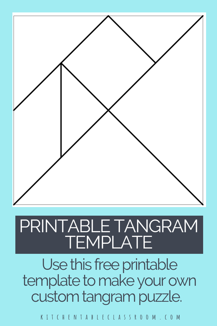 Printable Tangrams - An Easy Diy Tangram Template | Art For | Tangram Worksheet Printable Free