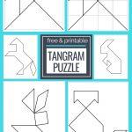 Printable Tangrams   An Easy Diy Tangram Template | Free Homeschool | Tangram Worksheet Printable Free