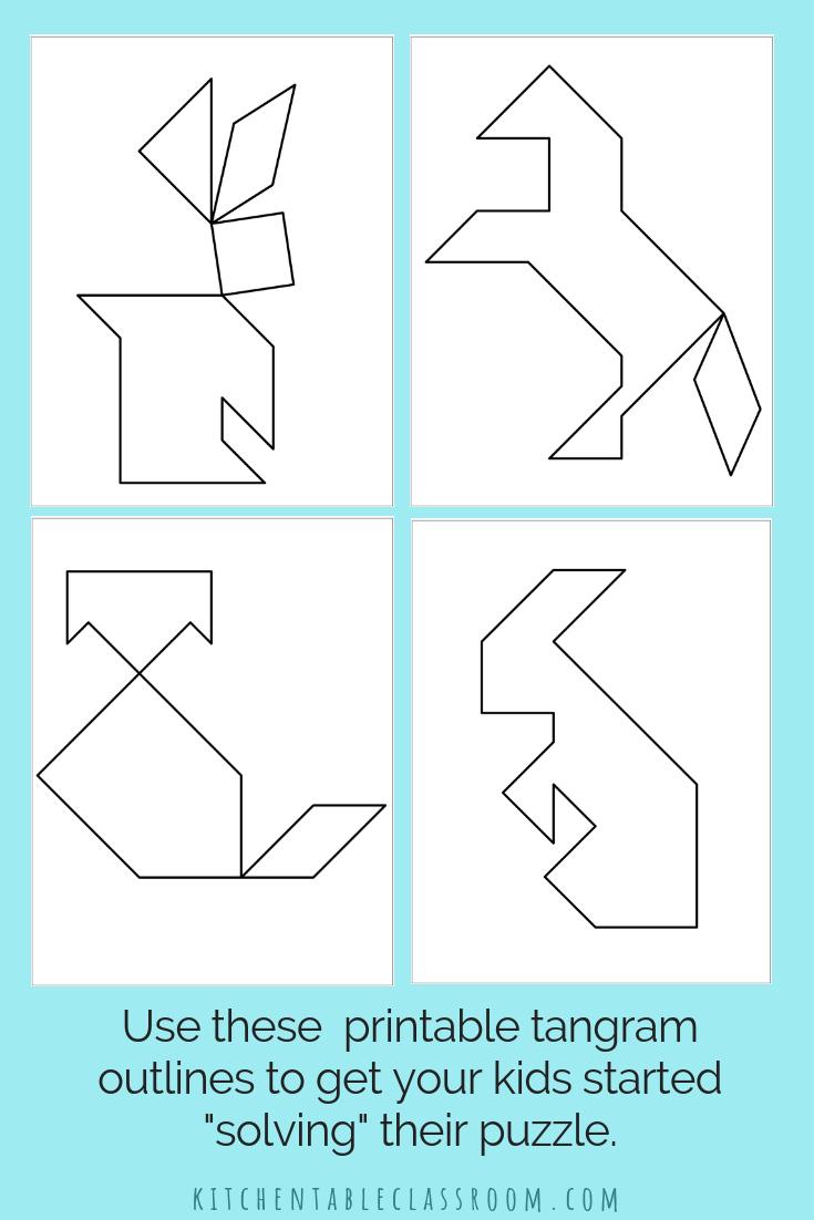 Printable Tangrams - An Easy Diy Tangram Template | Lesson | Tangram Worksheet Printable Free