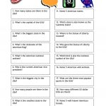 Quiz   Usa Trivia Worksheet   Free Esl Printable Worksheets Made | Usa Worksheets Printables