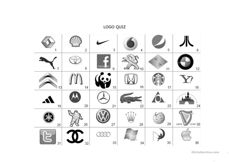 Quiz Worksheet - Free Esl Printable Worksheets Madeteachers | Printable Logo Quiz Worksheet