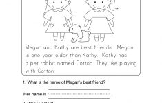 Kindergarten Reading Printable Worksheets
