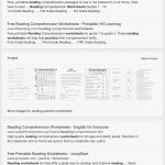 Reading Comprehension Worksheets For 1St Grade   Cramerforcongress | Free Printable Worksheets Reading Comprehension 5Th Grade