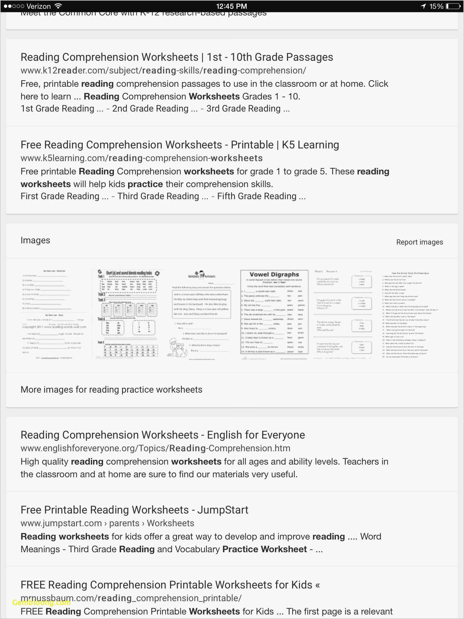 Reading Comprehension Worksheets For 1St Grade - Cramerforcongress   Third Grade Reading Worksheets Free Printable