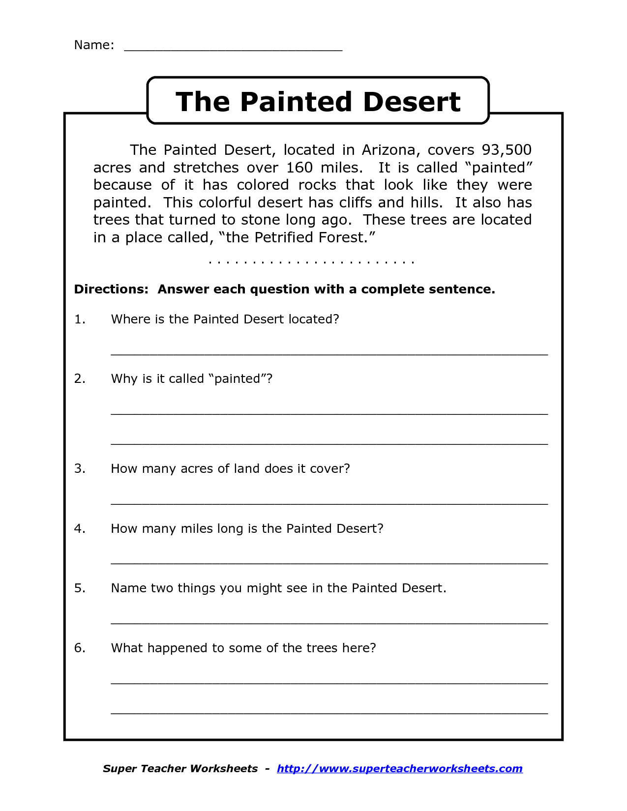 Reading Worksheets For 4Th Grade | Reading Comprehension Worksheets | Printable Reading Worksheets 4Th Grade