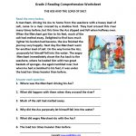 Reading Worksheets   Second Grade Reading Worksheets   Second Grade Reading Comprehension Printable Worksheets
