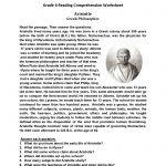 Reading Worksheets | Sixth Grade Reading Worksheets | Printable Comprehension Worksheets For Grade 6