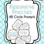 Restorative Circle Prompts   Restorative Practices   Restorative   Restorative Justice Printable Worksheets