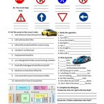 Road Safety, Traffic Signs And Directions Worksheet   Free Esl | Printable Worksheets For Drivers Education