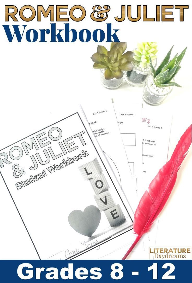 Romeo And Juliet Workbook | Teaching Tools | English Teaching | Romeo And Juliet Free Printable Worksheets