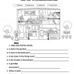 Rooms In The House   Family Members Worksheet   Free Esl Printable | Family Printable Worksheets