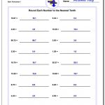 Rounding Numbers | Rounding To The Nearest Ten Worksheet Printable