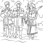 Sacagawea With Lewis And Clark Coloring Page   Free Printable   Lewis And Clark Printable Worksheets
