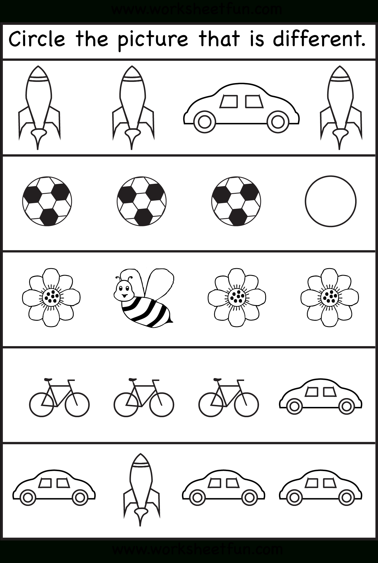 Same Or Different Worksheets For Toddler | Kids Worksheets Printable | Kindergarten Worksheets Printable Activities