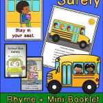 School Bus Safety Rhyme + Mini Booklet: Back To School | Grades | Free Printable School Bus Safety Worksheets