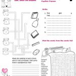 School Supplies: Coloured Maze And Wordsearch Worksheet   Free Esl | Colours Wordsearch Printable Worksheets