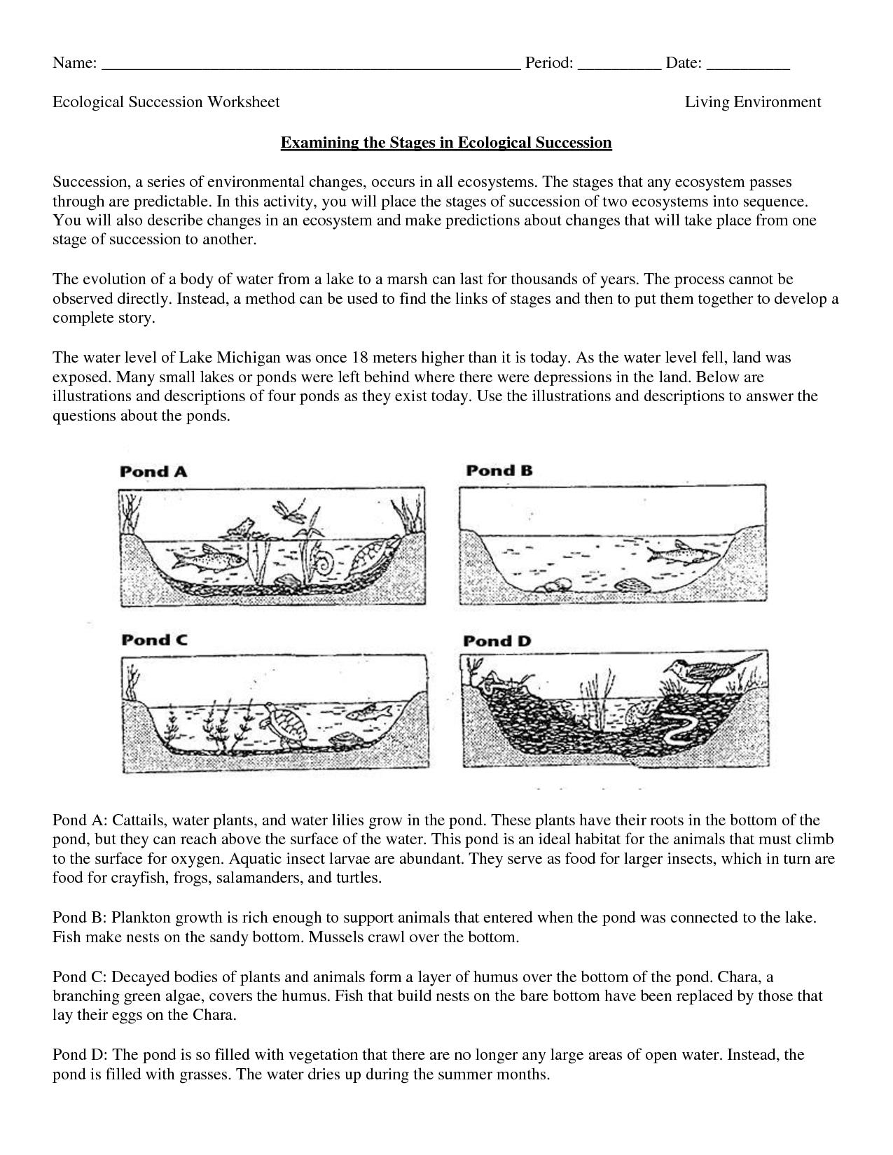 Science Worksheets Ecosystem | Biology Worksheet - Get Now Doc | Free Printable Biology Worksheets For High School