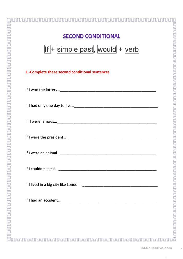 Second Conditional Worksheet - Free Esl Printable Worksheets Made | If I Were President Printable Worksheet