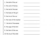 Possessive Nouns Printable Worksheets