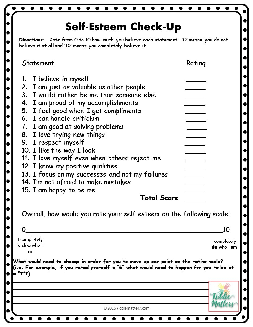 Self Esteem Building Small Group Counseling Lesson Plans And | Self Esteem Printable Worksheets