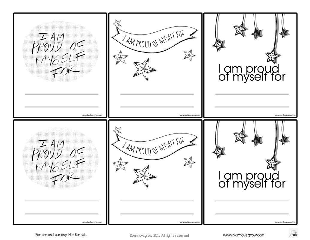 Self-Esteem - Plant Love Grown | Self Esteem Worksheets For Kids Free Printable