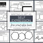 Self Expression Through Writing & Art  Free Self Esteem Worksheets | Self Esteem Printable Worksheets